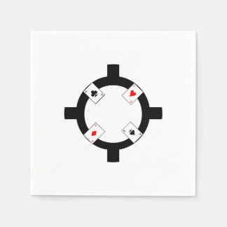 Poker Chip - White Disposable Napkins