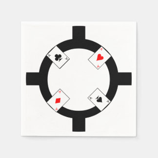 Poker Chip - White Disposable Napkins