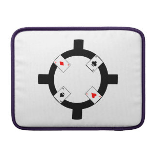 Poker Chip - White Sleeve For MacBook Air