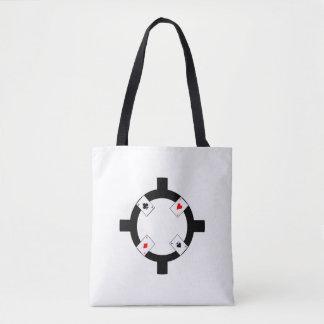 Poker Chip - White Tote Bag
