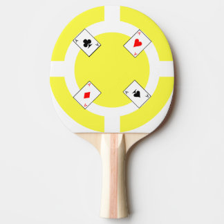 Poker Chip - Yellow Ping Pong Paddle