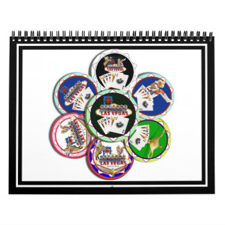 Poker Chips Galore Wall Calendar