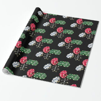 Poker Chips Pattern Wrapping Paper