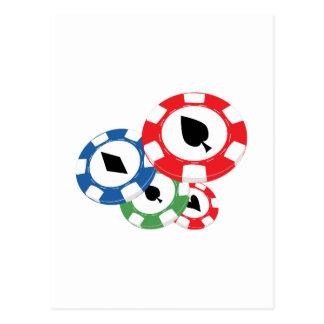 Poker Chips Postcard