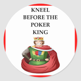 POKER CLASSIC ROUND STICKER