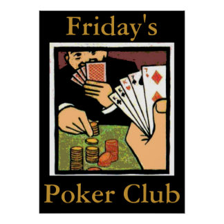 Poker Club Sign, edit text Poster