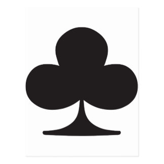 Poker Club Suit Playing Card Postcards