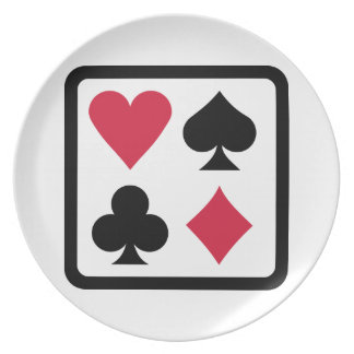Poker colors plate
