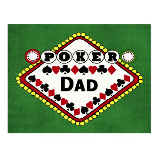 Poker Dad Post Cards