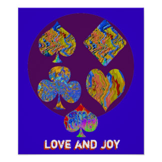 POKER - Diamond Champion - LOVE N JOY Posters