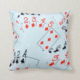 Poker, Diamonds And Clubs, Throw Cshion Throw Pillow