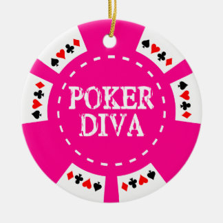 POKER DIVA POKER CHIP ORNAMENT
