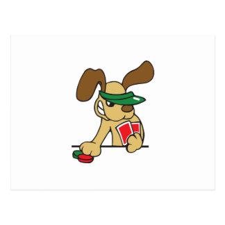 POKER DOG POST CARD