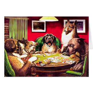Poker Dogs:  Waterloo Card