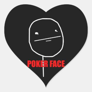 Poker Face - Black Heart Stickers