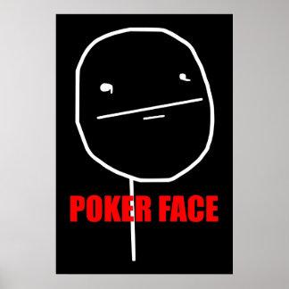 Poker Face - Black Poster