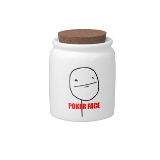Poker Face - Candy Jar