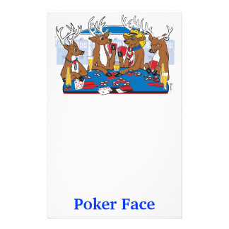Poker Face Deer Personalised Stationery