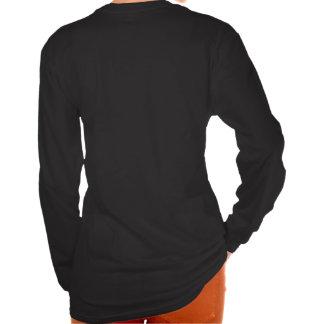 Poker Face - Design Ladies Sleeve Black T-Shirt