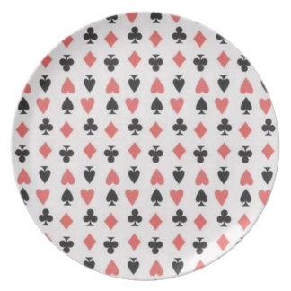 Poker Face Dinner Plates