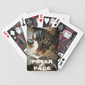 Poker Face Grumpy Kitty Bicycle Playing Cards