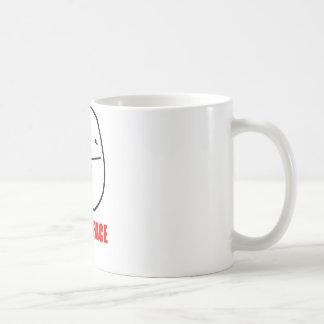 Poker face internet meme coffee mugs