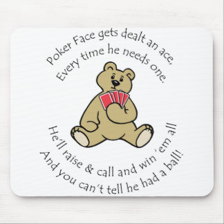 Poker Face Lucky Mouse Pad