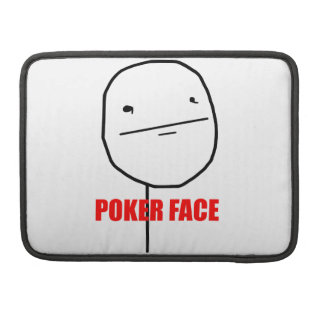 Poker Face - MacBook Pro Sleeve
