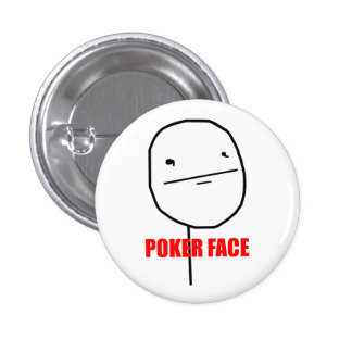 Poker Face Meme 3 Cm Round Badge