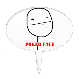 Poker face - meme cake pick