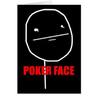 Poker Face Meme Card