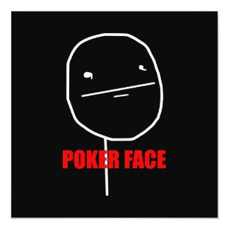 Poker Face Meme 13 Cm X 13 Cm Square Invitation Card
