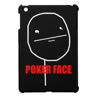 Poker Face Meme iPad Mini Cover