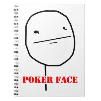 Poker face - meme spiral note books