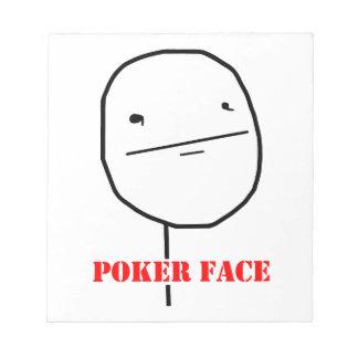 Poker face - meme memo pad