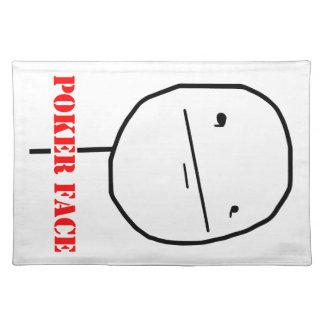 Poker face - meme placemat