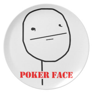 Poker face - meme plates