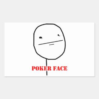 Poker face - meme rectangular sticker