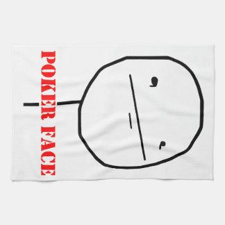 Poker face - meme hand towel