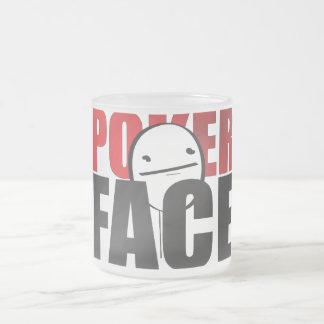 Poker Face mug! Frosted Glass Mug