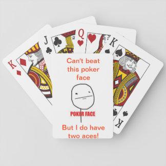 Poker face poker cards