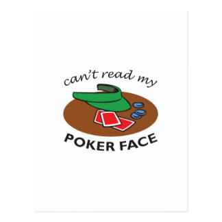 POKER FACE POSTCARDS