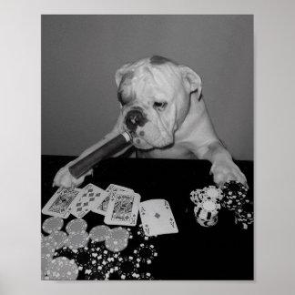 poker face print