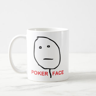 Poker Face Rage Face Meme Coffee Mug
