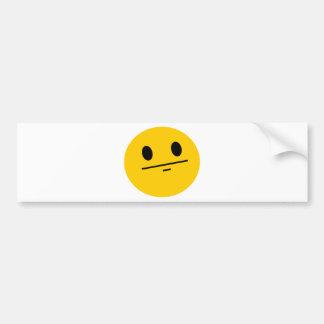 Poker Face Smiley Car Bumper Sticker
