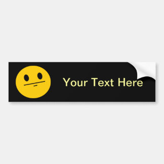 Poker Face Smiley face Bumper Stickers