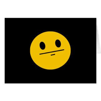 Poker Face Smiley face Card