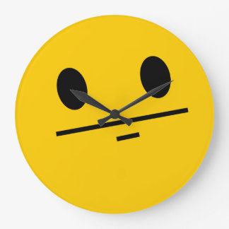 Poker Face Smiley face Wallclock