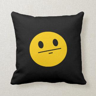Poker Face Smiley face Pillow
