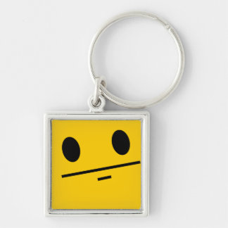 Poker Face Smiley face Keychain